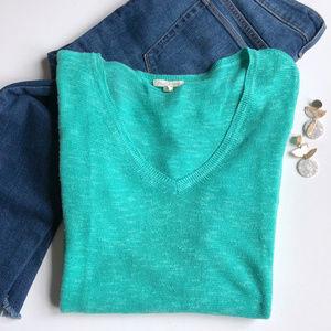 Eileen Fisher Organic Cotton & Linen V-Neck Tunic